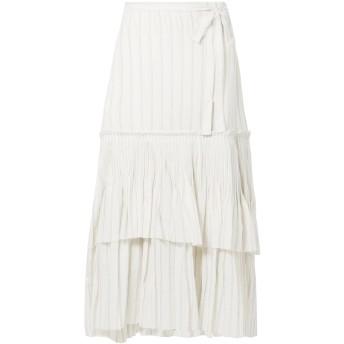 《セール開催中》BROCK COLLECTION レディース ロングスカート ホワイト 0 コットン 100%