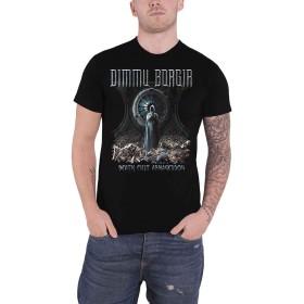 Dimmu Borgir T Shirt Death Cult Band Logo 新しい 公式 メンズ Size XL