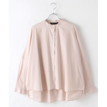 MARcourt/マーコート back gatherd wide shirt pink FREE