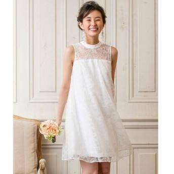 【フォルムフォルマ】【ウェディングドレス】スタンドカラー Aラインショートウェディングドレス