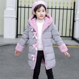 女の子ファッション冬のフェイクファーコートコート暖かいパーカー 10T 灰色