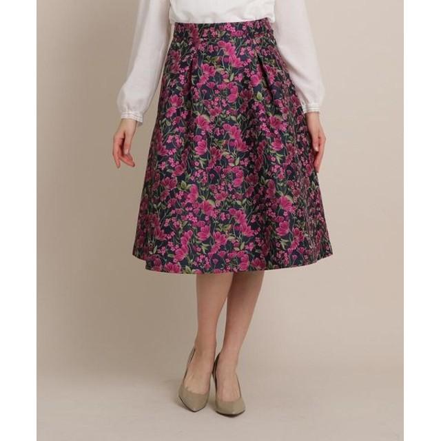Bon mercerie/ボン メルスリー 【SSサイズあり】フルールボリュームAラインスカート ネイビー(093) 36(S)