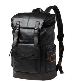 VIDOSCLA リュックサック メンズ 男の子 学生 puレザー 14インチPC対応 旅行バッグ 大容量 防水 通勤 旅行 人気 通学 遠足 軽量