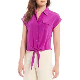 [アントニオメラニー] レディース シャツ Taylor Button Tie Front Silk Blouse [並行輸入品]