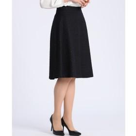 【エフデーゼ/EFDEISEE】 《大きいサイズ》ツイードフレアスカート