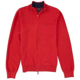 [アルマーニエクスチェンジ] メンズ ニット、セーター Solid Mockneck Quarter-Zip Pullover [並行輸入品]