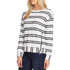 [ヴィンスカムート] レディース Tシャツ Long Sleeve Striped Knit Pullover Cotton [並行輸入品]