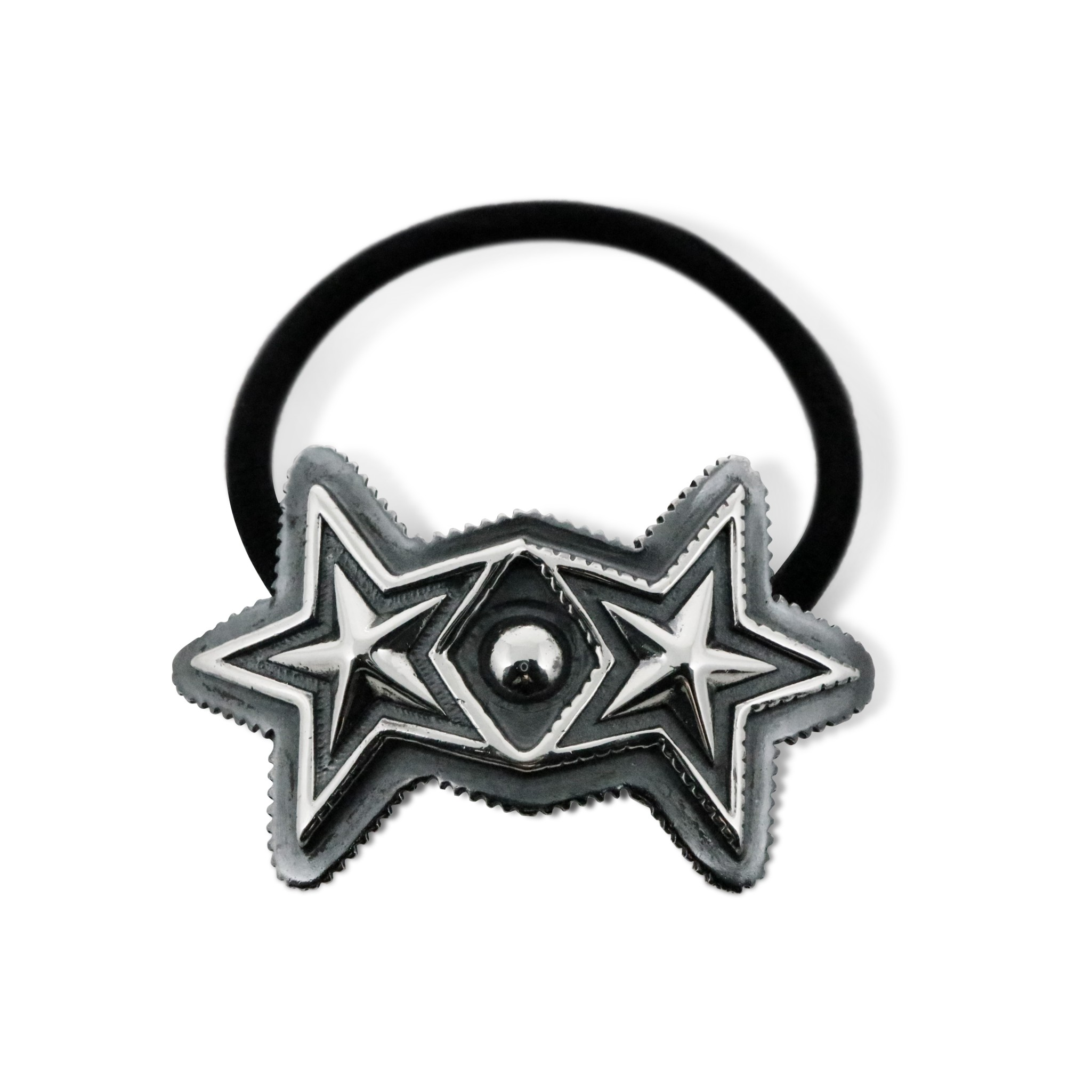 DOUBLE SHERIFF STAR HAIR TIE  [USD $660]