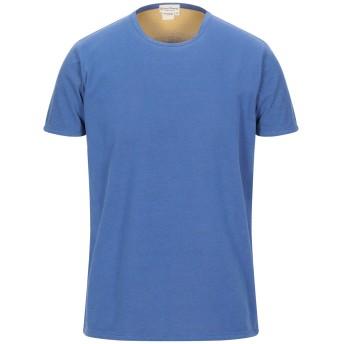 《セール開催中》CASHMERE COMPANY メンズ T シャツ ブルー 50 コットン 100%