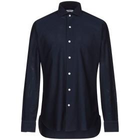 《セール開催中》BARBA Napoli メンズ シャツ ダークブルー 40 コットン 100%