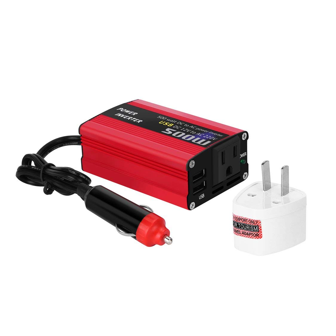 Car Auto Charger Adapter DC 12V To AC Converter 220V Charger Power With USB GA