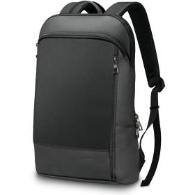 VORQIT(ボルチット) ビジネスリュック メンズ 薄型 軽量 ビジネス リュック バックパック ビジネスバッグ 防水 A4 (01.ブラック)