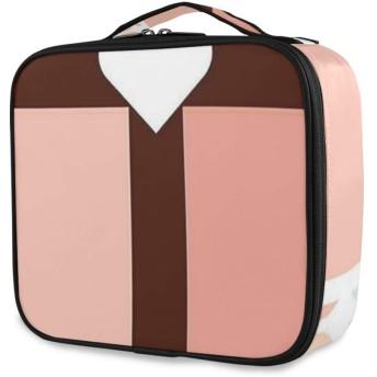 TARTINY 化粧ポーチ 大容量 機能的 メイクポーチ 旅行 トラベル 化粧品収納バッグ 撥水 軽量 複数のスタイル 最初のお祝いのハート形の点線の背景 コスメケース コスメバッグ メイクボックス