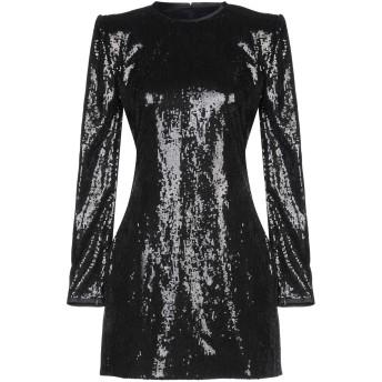 《セール開催中》DSQUARED2 レディース ミニワンピース&ドレス ブラック 38 ポリエステル 100% / シルク