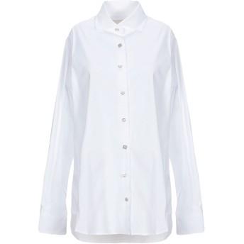 《セール開催中》XACUS レディース シャツ ホワイト 48 コットン 78% / ナイロン 18% / ポリウレタン 4%