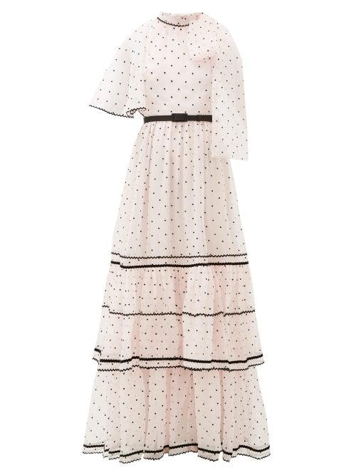 Erdem - Natalina One-shoulder Polka-dot Gown - Womens - Light Pink