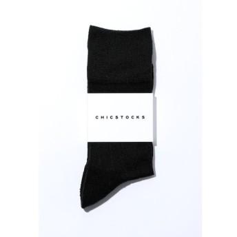 CHICSTOCKS / シックストックス SILK MIX(シルクミックス)ソックスBlack (ブラック)