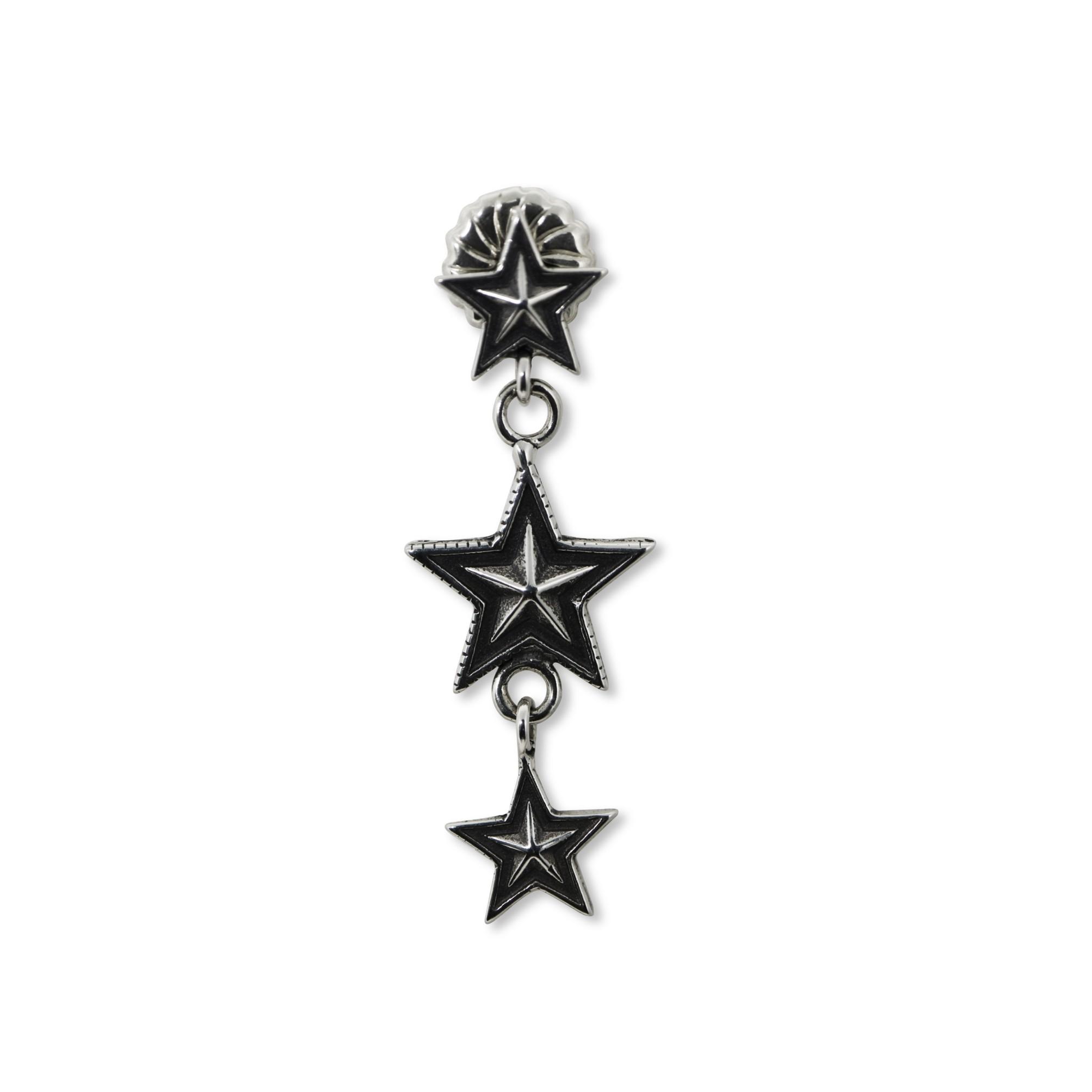 3 STAR DANGLING EARRING  [USD $450]