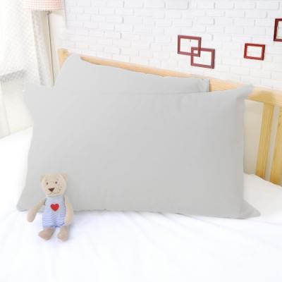 亞曼達Amanda 100%防水透氣抗菌枕頭保潔墊 枕頭套 -2入 (灰色) -快速到貨