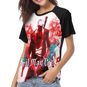 デビル メイ クライ 5 Devil May Cry5 野球 Tシャツ 女 半袖 丸首 吸汗速乾 伸縮性 通気性 スポーツ