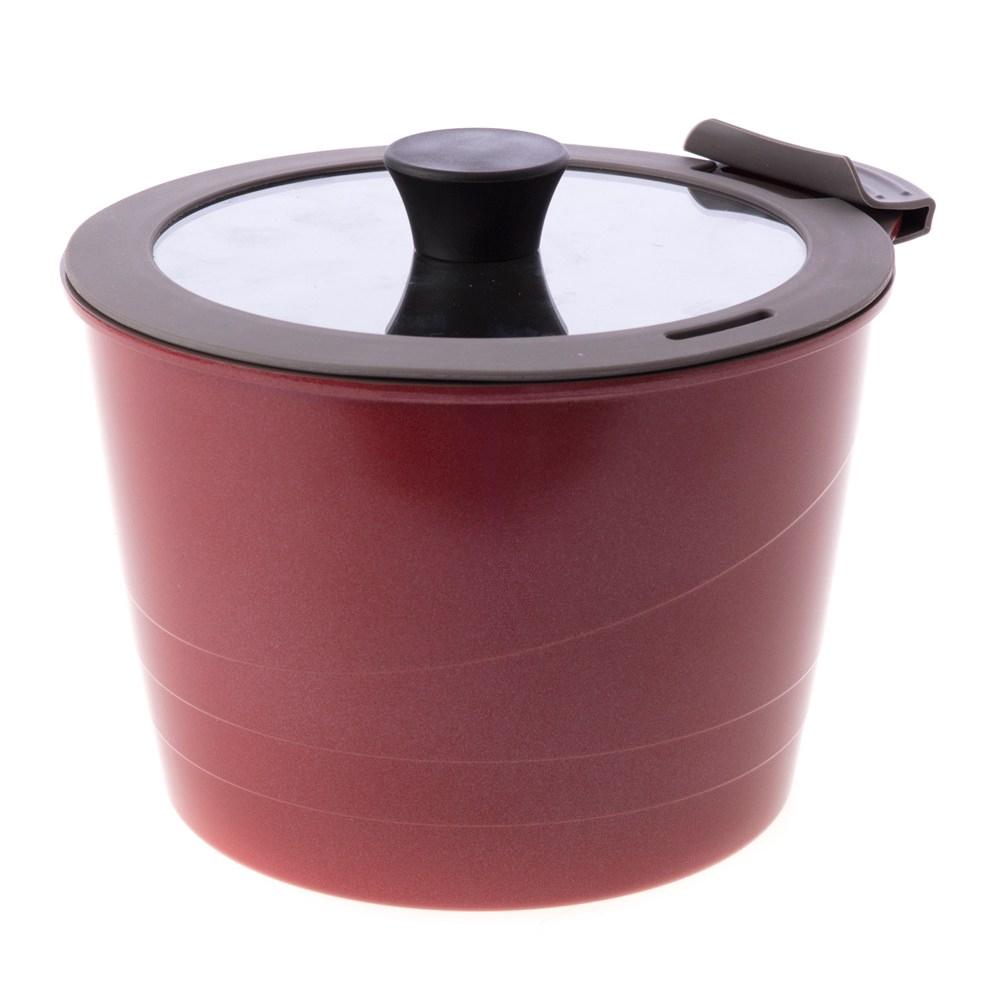 HOLA 可拆式陶瓷不沾導磁湯鍋3件組 紅色款