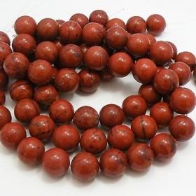 天然石 ビーズ ライン 卸売 レッドジャスパー 丸玉ビーズ 約16mm red-ja-16m