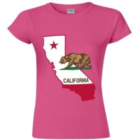 スタイリッシュ Single-sided Printing of Short-sleeved T-shirt for Women レディース半袖Tシャツ カリフォルニア color17 XL