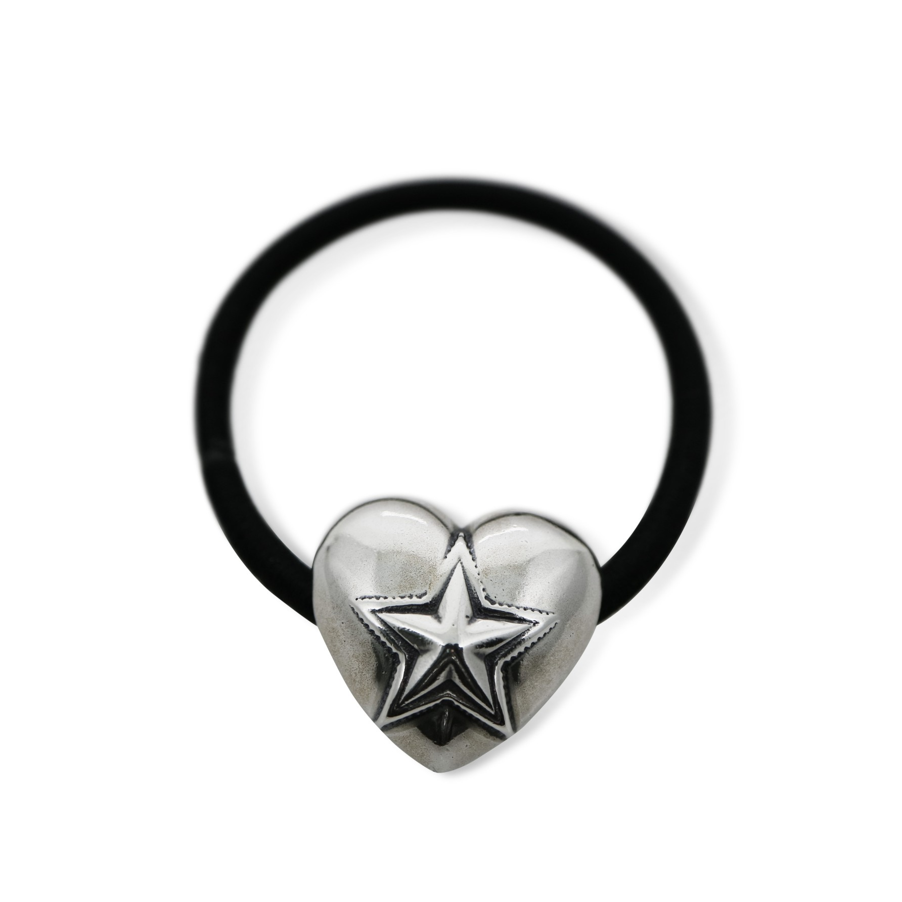 HEART AND STAR HAIR TIE  [USD $530]