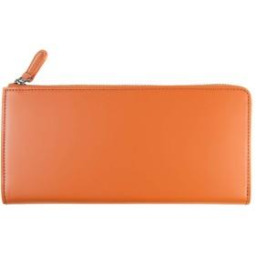 長財布 コードバン レディース 本革 l字ファスナー 薄型 財布 ファスナー コンパクト (ブラウン)