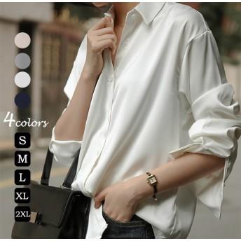 【2020定番商品】ブラウス 韓国ファッションベーシックシャツ大人のトレンドコーデ着やせ効果抜群大人可愛いナチュラル服着回しコーデ最新トレンド
