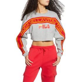 FILA(フィラ) アウター パーカー・スウェット FILA Lucie Dolman Sleeve Crop Sweatshirt Grey Pearl レディース [並行輸入品]