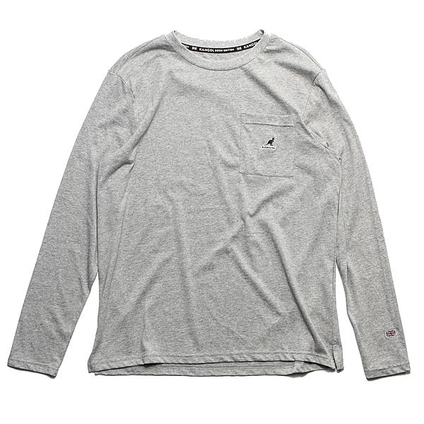 KANGOL 灰色 口袋T 薄長袖 薄長T 男 (布魯克林) 6951100112