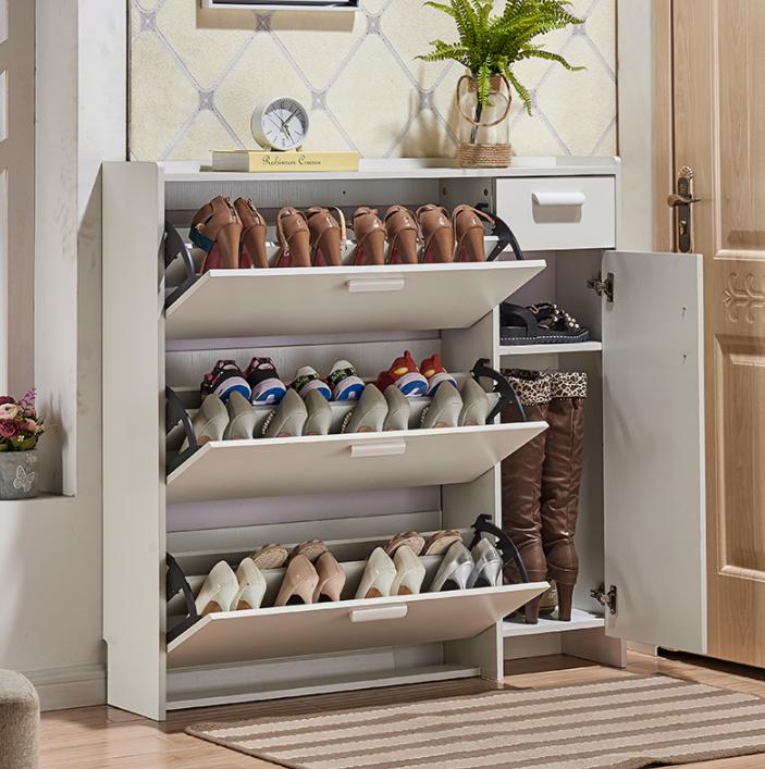 鞋櫃 翻門鞋櫃 收納櫃 門廳櫃 儲物櫃 鞋架門廳玄關櫃多層薄翻鬥簡易約現代多功能小戶型防塵大容量組裝
