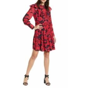 レベッカミンコフ レディース ワンピース トップス Rebecca Minkoff Margaret Ruffle Long Sleeve Dress Sapphire