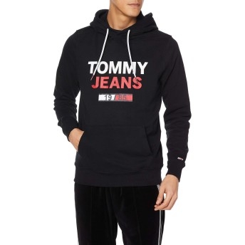 (トミーヒルフィガー) TOMMY HILFIGER Tommy Jeans ロゴパーカー DM0DM07414 L ブラック