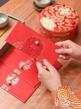 結婚用品高檔個性創意大紅包袋復古婚禮利是封新婚紅包紅封包 衣櫥秘密 母親節禮物
