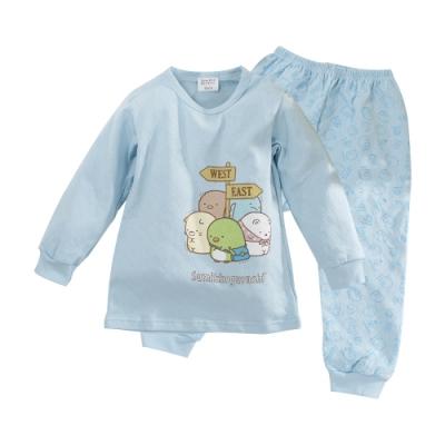 魔法Baby 男童 台灣製角落小夥伴正版雙層厚棉保暖居家套裝 k61091