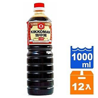 統一 龜甲萬 甘醇醬油 1000ml (12入)/箱【康鄰超市】