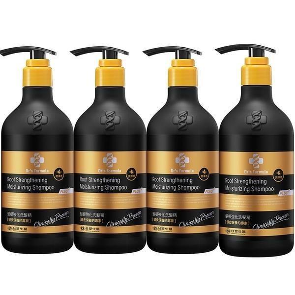 《台塑生醫》Dr's Formula髮根強化洗髮精-潤澤感(升級版)580g*4瓶