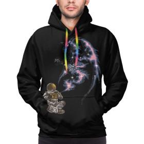 Astronaut Rubs ワンダーランプ ドラゴン メンズ おしゃれ 長袖 パーカー Tシャツ 快適 ファッション 春秋冬 ポケット付き S-3XL