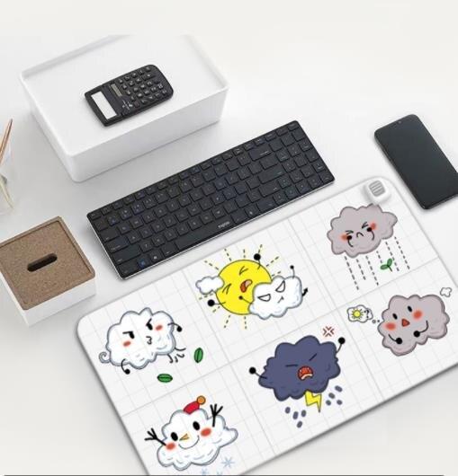 暖桌墊 發熱鼠標墊超大加熱暖桌墊辦公室電腦發熱墊學生寫字電熱桌面取暖