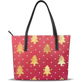 ショッピング旅行のための女性カジュアルトートクリスマスツリーハンドバッグレディースショルダーバッグ