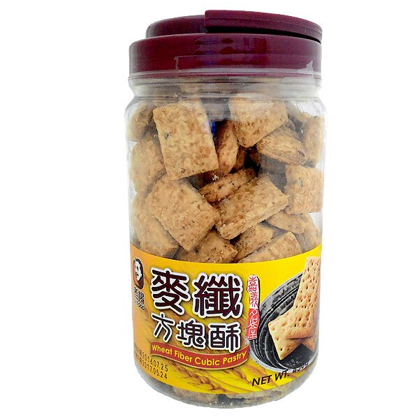 老楊 麥纖 方塊酥 450g (12入)/箱【康鄰超市】