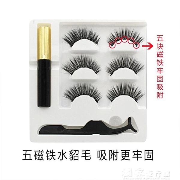磁鐵睫毛量子磁力睫毛套裝磁鐵吸鐵石5d磁性魔術睫毛磁石睫毛不用膠自 獨家流行館