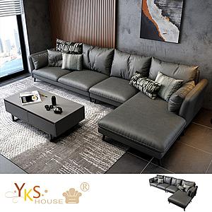 【YKS】愛曼達L型布沙發-獨立筒版(兩色可選)炭灰色