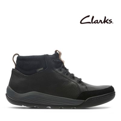 Clarks 樂活休閒-輕戶外防潑水真皮休閒鞋 黑色
