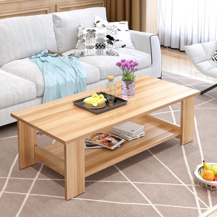 茶幾簡約現代客廳邊幾家具儲物簡易茶幾雙層木質小茶幾小戶型桌子WY 【快速出貨】