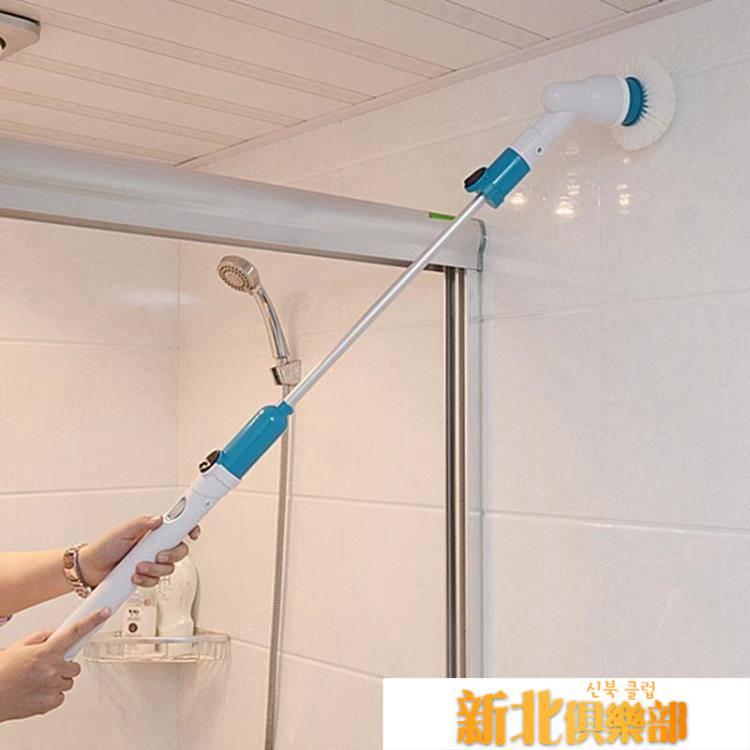 充電式無線電動清洗機長柄伸縮地板瓷磚浴缸刷多功能家用清潔刷子 MKS