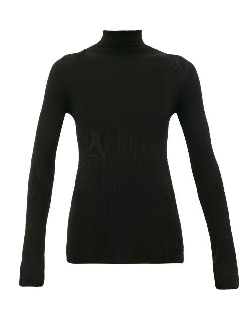 Wardrobe. nyc - Release 05 Roll-neck Ribbed Merino-wool Sweater - Womens - Black