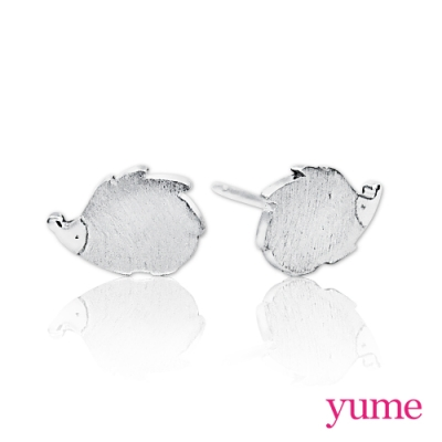 【YUME】 可愛動物 刺蝟耳環